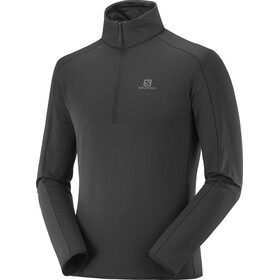 Salomon Outrack Mid Shirt Halve Rits Heren, black